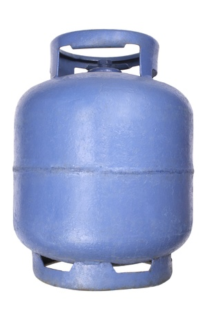 Photo of Blue butane gas tank
