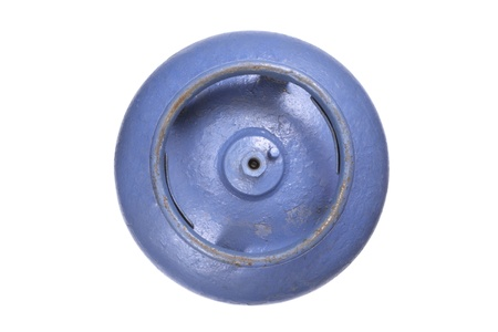 butane: Foto de vista gas butano parte superior del tanque Foto de archivo