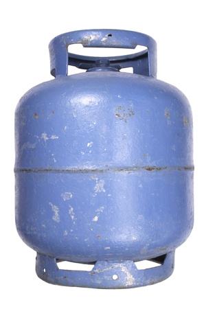 butane: Photo of Used butane gas tank Stock Photo