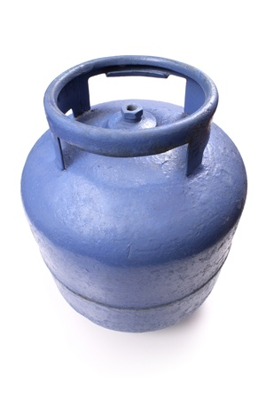 butane: Photo of Used butane gas tank Stock Photo