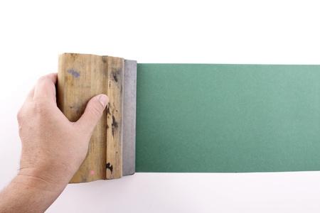 silk screen: Photo of Green silkscreening