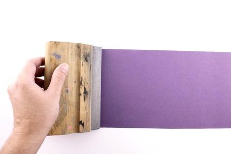 silk screen: Photo of Purple printmaking