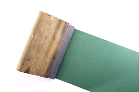 printmaking: Photo of Rubber blade Stock Photo