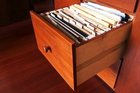 filing: Photo of File cabinet - Wood