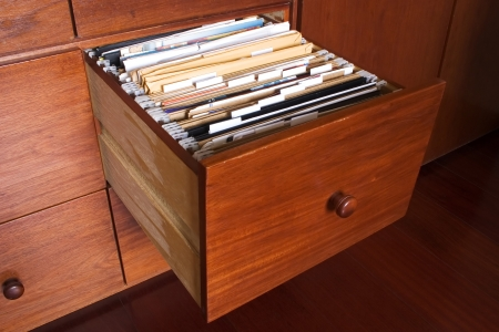 Photo of Wooden file cabinet