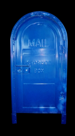 replying: Mail storage box Stock Photo