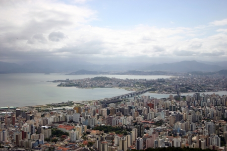 Photo of Aerial view of Florianópolis-SC Brazil