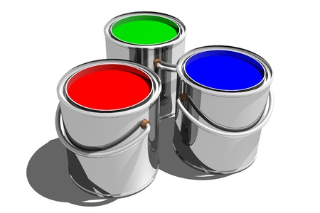 paint can: Photo of Paint Cans (3D) Stock Photo