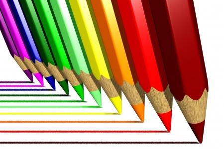 clr: Photo of Coloring pencils (3D) Stock Photo