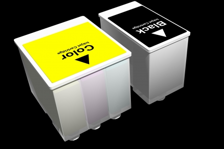 ink jet: Photo of Ink Jet Cartridges (3D) Stock Photo