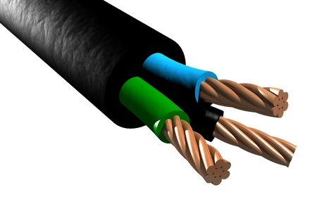 electric material: Photo of Tri-rated cable (3D)