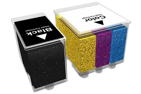Photo of Transparent inkjet cartridges (3D) photo