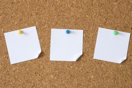 a bulletin board: Photo of blank triple message