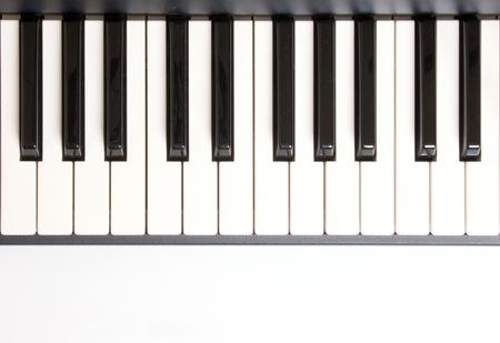 teclado de piano: Foto de Aprender a tocar el piano Foto de archivo