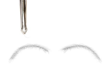 tweezing: Photo of Tweezing eyebrows