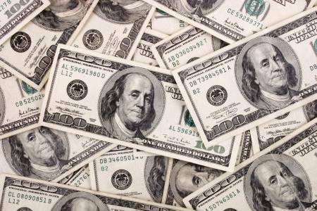 cash money: Foto de billetes de cien