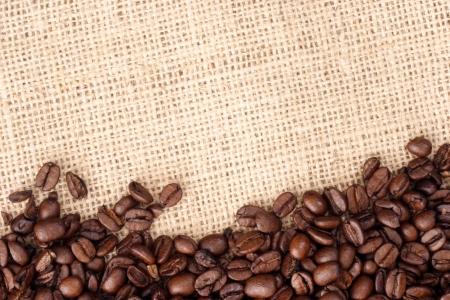 coffee sack: Photo of Coffee beans on sizal sack