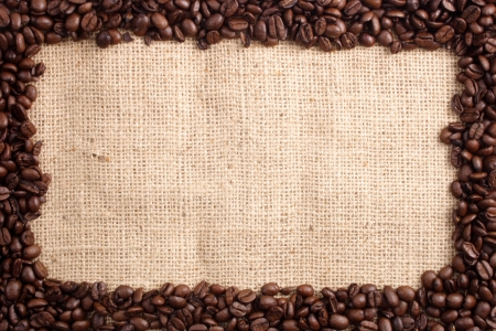 clr: Photo of Coffee beans and sizal