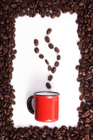 clr: Photo of Coffee beans and cup