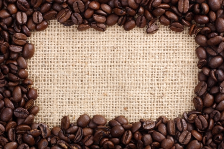 hz: Photo of Coffee beans as frame