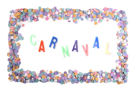 favours: Photo of Carnaval confetti frame - Portuguese(Br) Stock Photo
