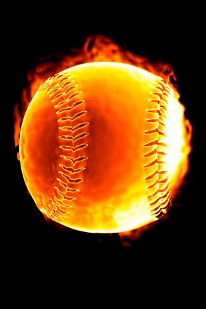 Photo of Baseball on fire (Hot serie)