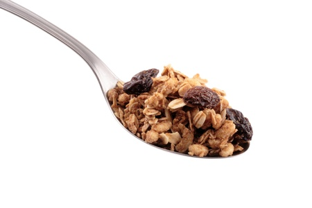 Photo of Full spoon of granola photo