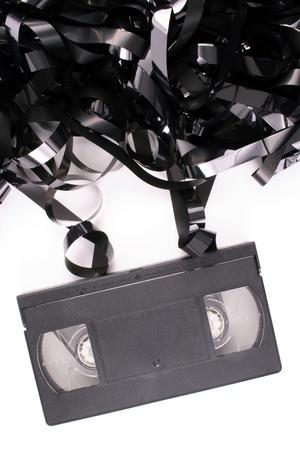 Photo of Damaged video tape photo