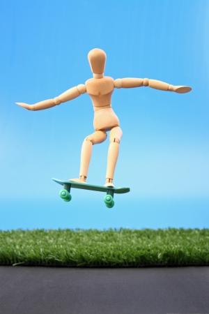 Photo of Dummy skate jump Stock Photo