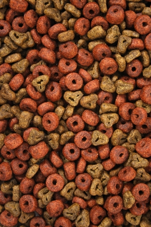 manufactured: A top view shot of a manufactured dog food.