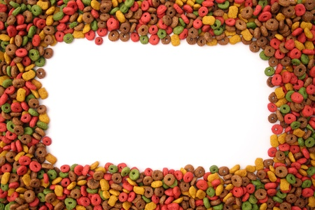 A frame made of dog food. Stock Photo - 19676362