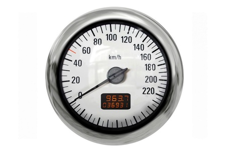 Chrome speedometer a great image for your job  photo