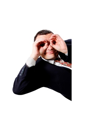 Binocular gesture a great image for your job. photo