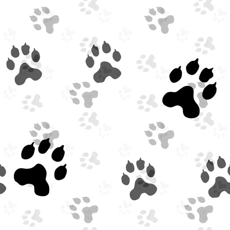 dog paw: This is seamless illustration (serie). It means you can place a sample side by side and repeat it infinitely or use it as material for 3D scenesobjects. Stock Photo