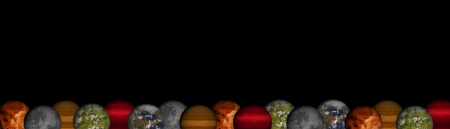 Planets footer or header - Panoramic view Stock Photo - 19789339