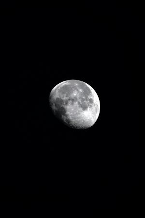 stargaze: Moon isolated on black background