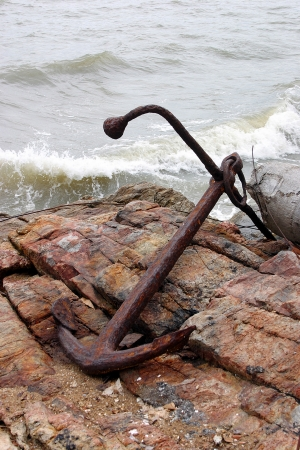 water anchor: A lost anchor on rock