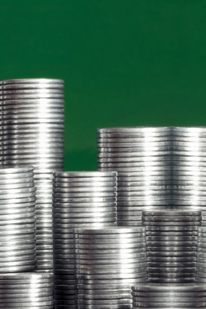 financial item: Coins city a financial item Stock Photo