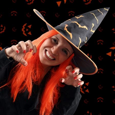 sorcery: Halloween holiday with a witch sorcery
