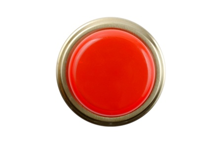 panic button: Panic button front top view. Stock Photo