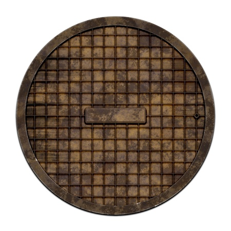 This is an illustration of a sewer cover  serie   illustration