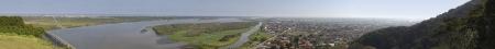 vale: Panoramiczny widok z Iguape - Vale do Ribeira - São Paulo - Brasil
