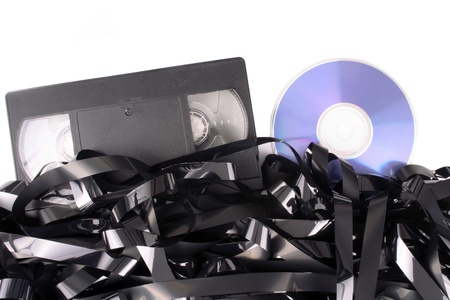 Photo of Video tape cassete to DVD photo