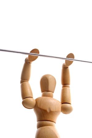hung: Photo of Hung on bar Stock Photo