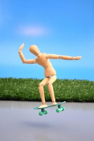 maneuver: Photo of Dummy flying a skate