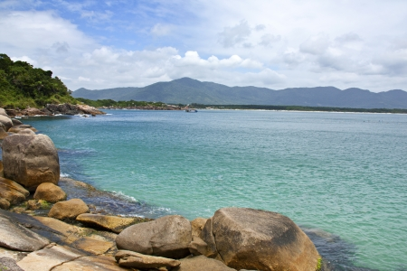 brazil beach: Summer day in florianopolis beach in Brazil