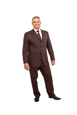 A brazilian business man standing on white background photo