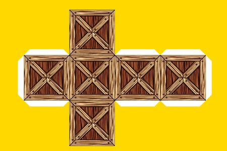 box design: Box design - A flat cut for building a box - Mock up