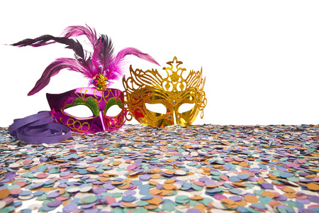 fat tuesday: Carnival Party Props on white background