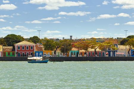 Colored houses at Porto Seguro coast - Bahia - Brazil
